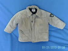 Boys 2 Years - Beige Cord Fleece Lined Coat Jacket with Logos - Motion