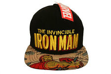 THE INVINCIBLE IRON MAN BLACK SNAPBACK HIP HOP HAT CAP .. ADULT NEW