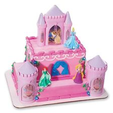 DISNEY PRINCESS Cake Topper Decoration CASTLE Kit Cupcake Belle Ariel Birthday *