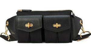 Kate Spade Cargo Nylon medium Sling Belt Bag ~NWT~ Black