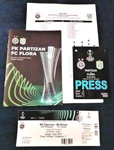 2021, PARTIZAN Serbia v FLORA Estonia! Multi set: Ticket+programme+press+lineups
