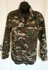 Womens camo Jacket sz small Willow & Clay military utility green button up