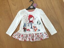TU red riding toadstool little girls top woodland NWT
