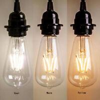 1 Pièce Vintage Rétro Edison E27 2W-8W Visse Led Filament Ampoule ST64 Lampe