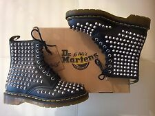 DOC DR MARTENS BLACK CHROME SPIKE STUDDED BOOTS NEW WITH BOX RARE UNISEX 5UK