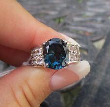 Sterling Silver Barehipani London Blue Topaz & White Topaz Ring - JTV