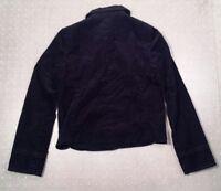 J. Crew Jacket Blazer Corduroy Black Lined Women's Sz 2