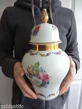 "KPM Royal Porzellan Baluster Shape No 981/29 Tea Caddy Ginger Jar & Cover 11.5"""