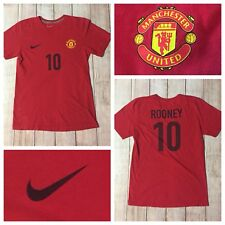 Nike Mens Small Jersey Style TShirt Soccer Manchester United Wayne Rooney Red