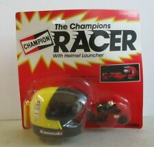 MOC 1982 BANDAI AMERICA THE CHAMPIONS RACER W/ YELLOW HELMET LAUNCHER RED BIKE