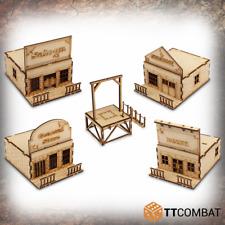 WWS-Set TTCombat - Wild West - Town Buildings & Gallows Set (Table Top Terrain)