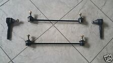 PEUGEOT 206 CC 16V GTI (00-) TWO ANTI ROLL BAR LINKS+ 2 TRACK ROD ENDS NEW