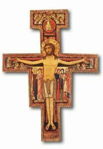"""10.2"""" San Damiano Wall Cross Hanging Crucifix 26cm"""