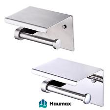 Haumax Edelstahl Toilettenpapierhalter mit Ablage WC Wandhalterung Klorolle