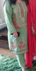 Pakistani Salwar Kameez Ladies Ready Made 3 Piece suit Embroidered Size Medium