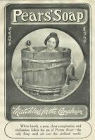 Pears Soap Japanese Girl in Wash Tub Photo 1905 Advertising Print Ad