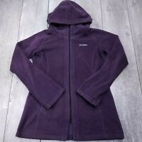 Columbia Benton Springs Long Hoodie Zip Fleece Jacket Womens Large Purple SW00