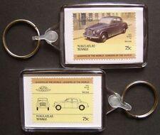 1955 ROVER P4 / 90 Car Stamp Keyring (Auto 100 Automobile)