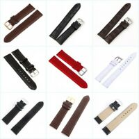 Bracelet de montre Replacement Women Men's Leather Steel Buckle Wrist Belt Link