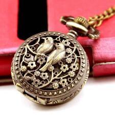 Orologio da tasca Vintage Bronzo Steampunk Quarzo Collana Pocket Watch Regalo