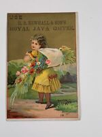 Advertising Victorian Trade Card HB Newhall & Son's Royal Java Coffee