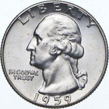 Unc BU MS 1959 - US Washington 90% Silver Quarter Coin Set Break *315