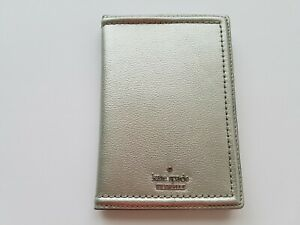 kate spade Patterson Drive Imogene Silver Passport and Card Holder NWT