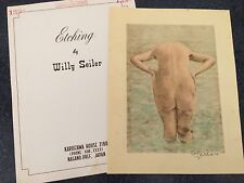 Original Willy Seiler Nude Women Etching - From Occupied Japan #2 Colored