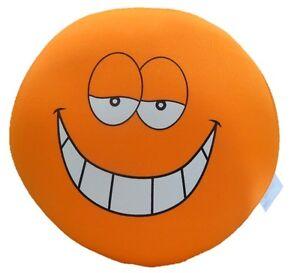 Squishy Microbead Happy Crazy Love Smiley Emoji Face Throw Pillow Valentine Gift