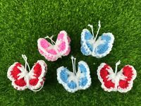 3D Butterfly Crochet knitting Yarn embellishment Decorate blanket clothes dolls