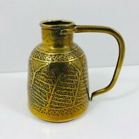 VINTAGE SMALL BRASS HANDLED JUG ORNAMENT