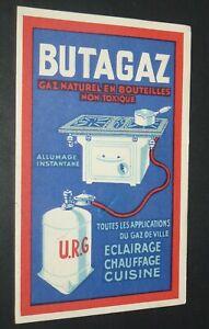 CPA CARTE POSTALE 1934 PUBLICITE BUTAGAZ GAZ NATUREL U.R.G.