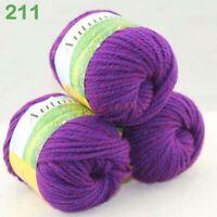Sale New 1 Skeinx50g Quick Hand Knitting Wool Silk Yarn Warm Wrap Shawl Scarf 11