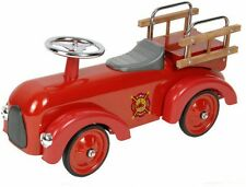 Classic Red Fire Engine Foot-to-Floor Racer Ride on New for Kids, Vintage Style