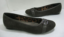 New Clarks Bendables size 6.5 Poem Emerald Pewter-Brown Quilted Suede Flats