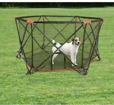 New listing Carlson Pet Six Panel Portable Dog Play Pen Indoor outdoor Travel Red 2700