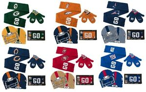 Licensed NFL Youth Hat, Scarf & Mittens Set ~ Pick Your Favorite Team ~ NWT