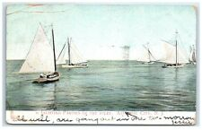 1907 Yachting Parties of the Inlet, Atlantic City, NJ Postcard
