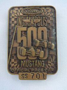 1994 Indianapolis 500 Bronze SS701 Pit Badge 2x Al Unser Mustang Marlboro Penske