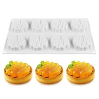 3D Silicone Cake Mold 8 Cavity Baking Tools Mousse Dessert Bakeware Decorating