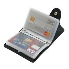 24 Cards Pu Leather Credit ID Business Card Holder Pocket Wallet Purse Box UK