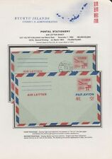 RYUKYU-JAPAN, 1952. Air Letters UC1 Mint, UC1a First Day