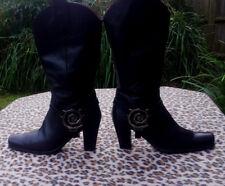 URSULA MASCARO BLACK BOOTS size 41, UK 7.5