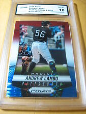 ANDREW LAMBO PIRATES 2014 PRIZM ROOKIE RC RED WHITE & BLUE PRIZM # 195 GRADED 10