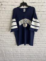 Vintage Georgetown Hoyas Logo 7 T-Shirt Size Large Navy Blue 90s NCAA