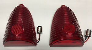NEW 1955 Chevy CAR 55 Chevrolet LED tail lights RED pr Bel  Air 210 150 Nomad