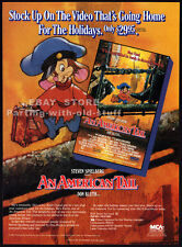 AN AMERICAN TAIL__Original 1987 Trade print AD promo__Dom DeLUISE_DON BLUTH_1986
