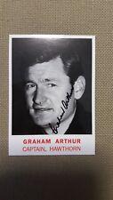Scanlens Archives Captain (C9) Graham ARTHUR Hawthorn HAND SIGNED Card