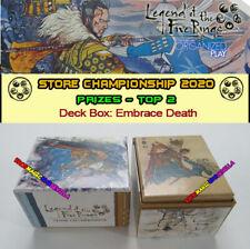 L5R LEGEND OF THE FIVE RINGS - 2020 STORE CHAMPIONSHIP Deck Box Embrace Death