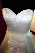 Brautkleid Hochzeitskleid A-Linie 40 42 Satin NEU NP 1350 elfenbein ivory gold